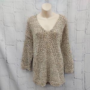 J.Jill Brown and Tan Sweater Size L